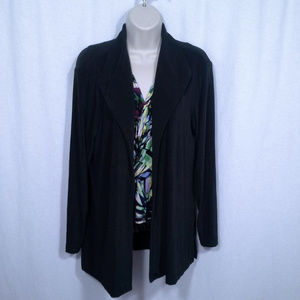Chicos Travelers jacket Sz 2 Brown Evening Casual